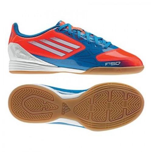 Adidas sko F10 IN Junior blå REA